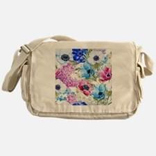 Vintage Chic Pink Floral Messenger Bag