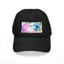 Vintage Chic Pink Floral Baseball Hat