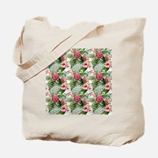 Vintage Chic Tropical Hibiscus Floral Tote Bag