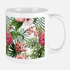 Vintage Chic Tropical Hibiscus Floral Mug