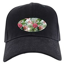 Vintage Chic Tropical Hibiscus Floral Baseball Hat
