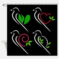 Unique Green wing Shower Curtain