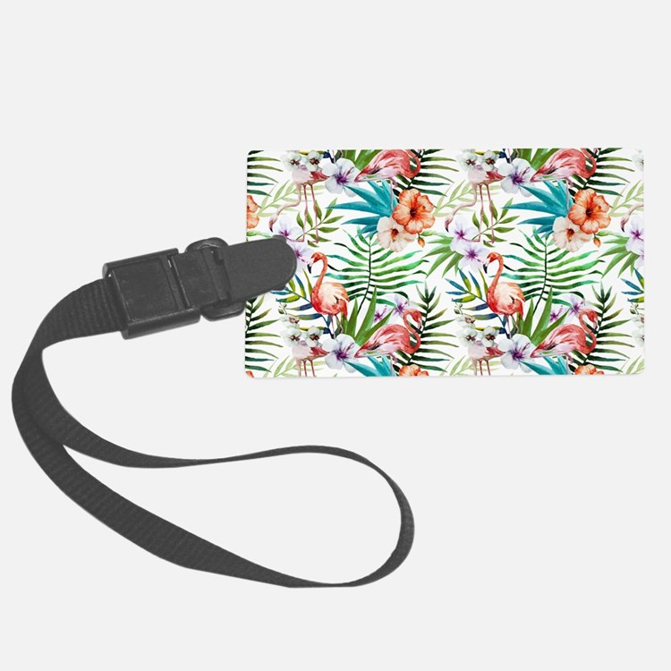 Vintage Chic Tropical Hibiscus F Luggage Tag