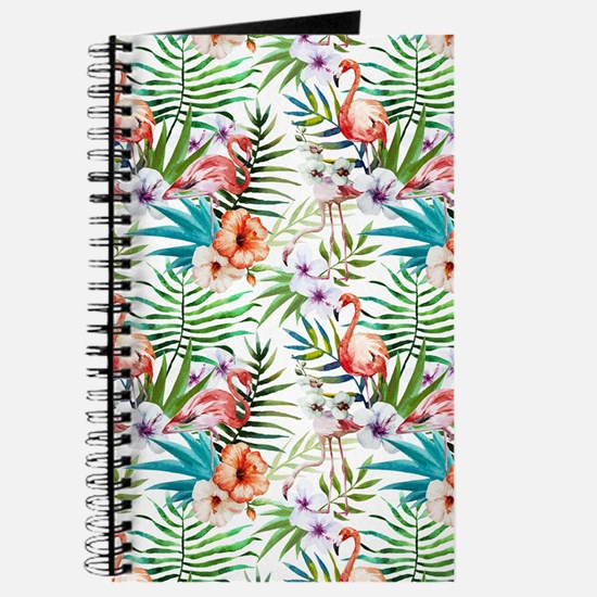 Vintage Chic Tropical Hibiscus Floral Journal