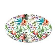 Vintage Chic Tropical Hibisc Wall Decal