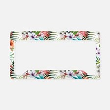 Vintage Chic Tropical Hibiscu License Plate Holder