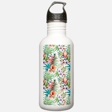 Vintage Chic Tropical Water Bottle