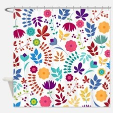 Cute Whimsical Floral Boho Chic Shower Curtain