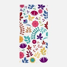 Cute Whimsical Floral Boho Chic Beach Towel