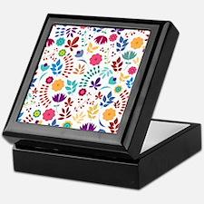 Cute Whimsical Floral Boho Chic Keepsake Box
