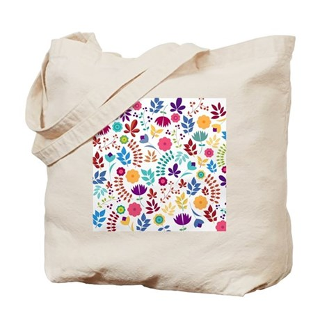 Cute Whimsical Floral Boho Chic Tote Bag By BimbysPersonalizedGifts