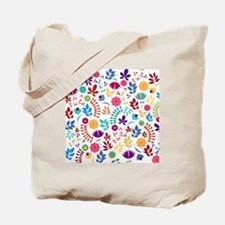Cute Whimsical Floral Boho Chic Tote Bag