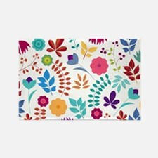 Cute Whimsical Floral Boho Chic Rectangle Magnet