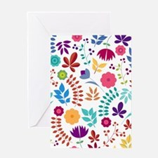 Cute Whimsical Floral Boho Chic Greeting Card