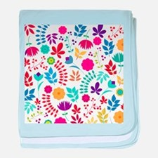 Cute Whimsical Floral Boho Chic baby blanket