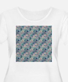 Crumpled Sunset Blue Pattern Plus Size T-Shirt