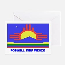 Roswell NM Flag Greeting Card