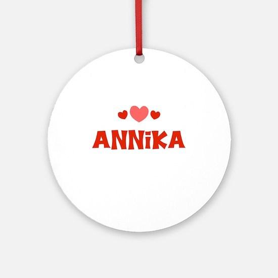 Annika Ornament (Round)