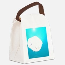 Fat Beluga Whale Canvas Lunch Bag