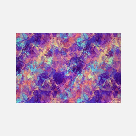 Violet Crumpled Pattern Abstract Magnets