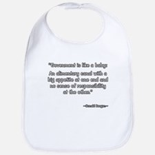 President Reagan government is like a baby Bib