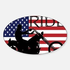 Cute Motorcycle flag Decal