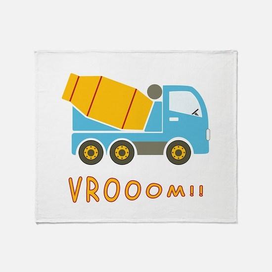 Cement mixer truck Throw Blanket