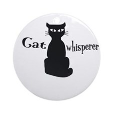 Cat Whisperer Round Ornament