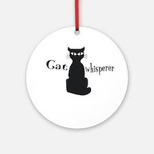 Cat Whisperer Round Ornament