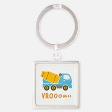 Cement mixer truck Square Keychain