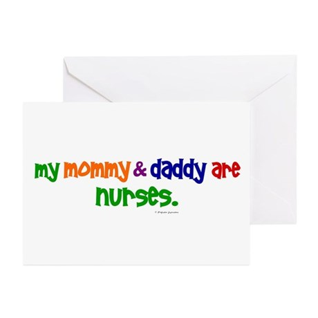 My Mommy & Daddy Are Nurses Greeting Cards (Pk of