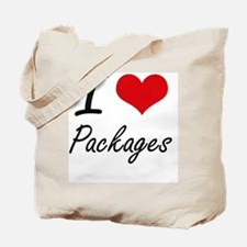 I Love Packages Tote Bag