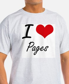 I Love Pages T-Shirt