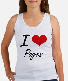 I Love Pages Tank Top