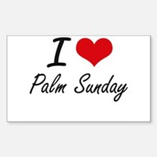 I Love Palm Sunday Decal