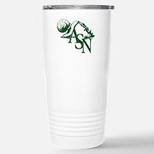 Green ASN Basic Logo Stainless Steel Travel Mug