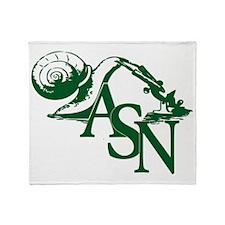 Green ASN Basic Logo Throw Blanket