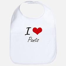 I Love Pants Bib