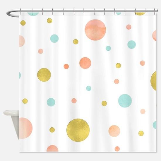 Cute Circles Shower Curtain