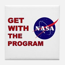 Get With The Program Tile Coaster