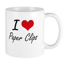 I Love Paper Clips Mugs