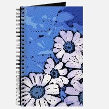 Purple Daisies on Blue - March of the Dais Journal