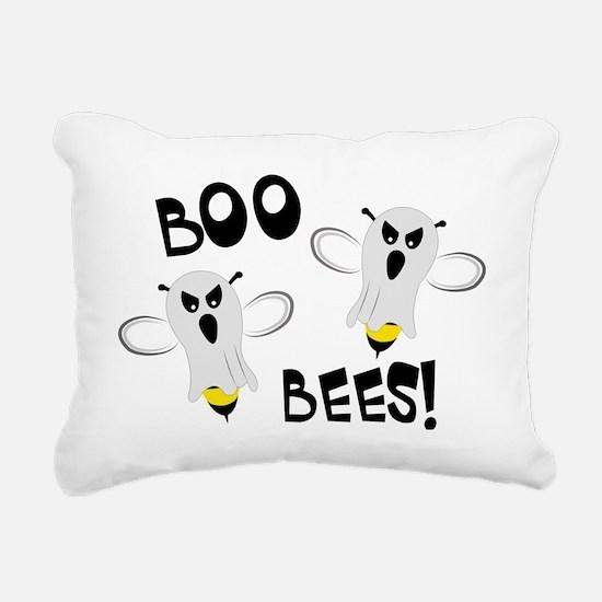 Boo Bees-WH Rectangular Canvas Pillow