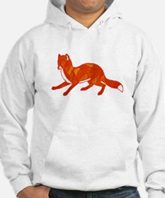 Red Fox Stained Glass Hoodie