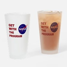 GET WITH THE PROGRAM Drinking Glass