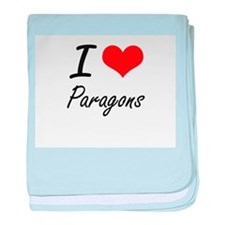 I Love Paragons baby blanket