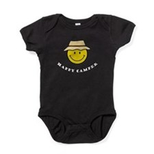 Unique Happy camper t Baby Bodysuit