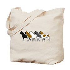 Group O' Akitas Tote Bag