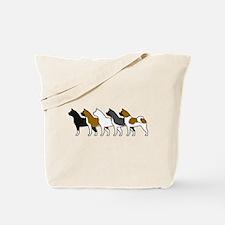 Group O' Akitas Tote Bag