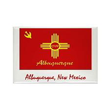 Albuquerque NM Flag Rectangle Magnet